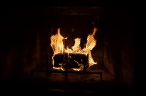 Fire in grate. Copyright Saara Punjani 2014.