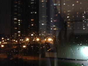 Raindrops on window pane. © Saara Punjani 2014.