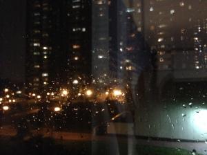 Raindrops on window pane. © Saara Punjani 2014.