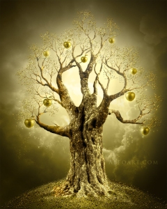 Image sourced from:  http://www.alfoart.com/golden_apple_tree_1.html