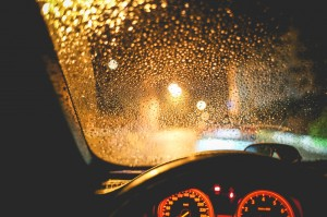 Rainy night. Image sourced from http://picjumbo.com/rainy-view-from-the-car-at-night/